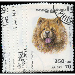 madagascar stamp 1003a 1003g dogs 1991