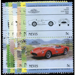 nevis stamp 317 322 289 classic cars leaders of the world 1985