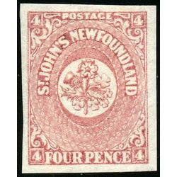 newfoundland stamp 18 1861 third pence issue 4d 1861