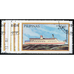 philippines stamp 1718 1723 ships 1984