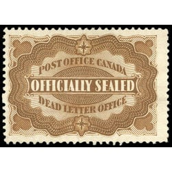 canada stamp o official ox1 officially sealed 1879 m vf ng 003