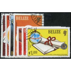 belize stamp 538 544 international rotary club 1981