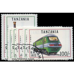 tanzania stamp 800 806 trains 1991