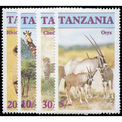 tanzania stamp 319 322 endangered wildlife 1986