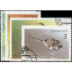 russia stamp 5388 5390 5392 endangered wildlife 1985