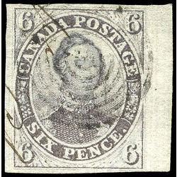 Canada Stamp 2 Hrh Prince Albert 6d 1851 U Vf 006