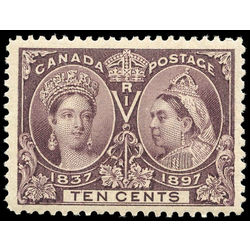 canada stamp 57 queen victoria jubilee 10 1897 m xfnh 010