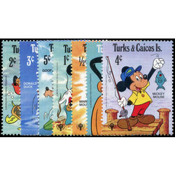 turks caicos stamp 399 405 disney international year of the child 1989