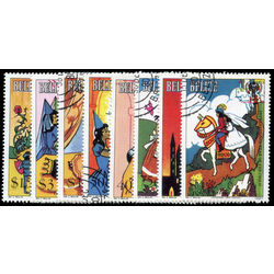 belize stamp 513 520 fairy tales 1980