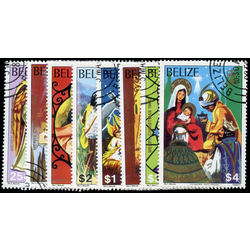 belize stamp 525 532 christmas 1980