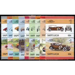 st lucia stamp 3 serie of classic cars 1983