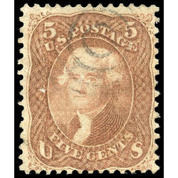 us stamp postage issues 95 jefferson 5 1867 u 001