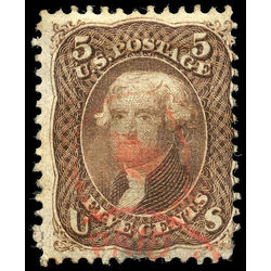 us stamp postage issues 95 jefferson 5 1867 u 002