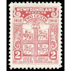 newfoundland stamp 88 coat of arms 2 1910