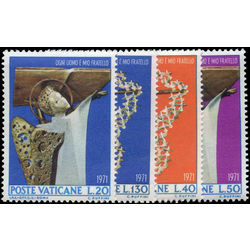 vatican stamp 500 3 international year against racial discrimination 1971