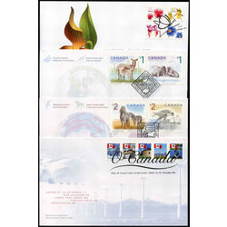 canada first day cover collection 2005 6