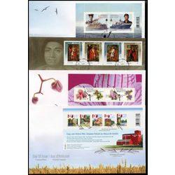 canada first day cover collection 2009 10