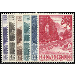 vatican stamp 233 8 centenary of apparition of the virgin mary at lourdes 1958