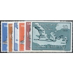 vatican stamp 304 9 arrival of st paul in rome 1961