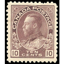 canada stamp 116a king george v 10 1912