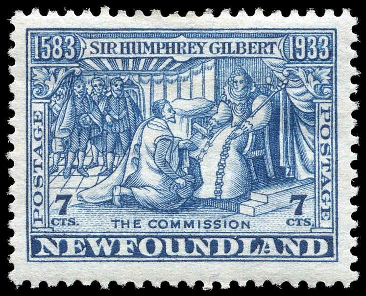 Canada Loyal Newfoundland 1933 Sir Humphrey Gilbert Issue Stamps