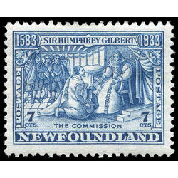 newfoundland stamp 217b gilbert receiving royal patents 7 1933