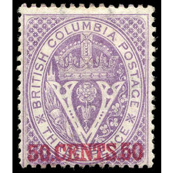 british columbia vancouver island stamp 12 surcharge 1867