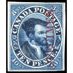 canada stamp 7pi jacques cartier 10d 1855