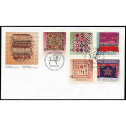 canada stamp 1465a hand crafted textiles 1993 fdc 001
