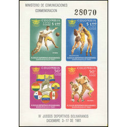 colombia stamp c419 sports 1961