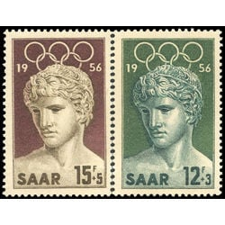 saar stamp b109 10 victor of benevent 1956