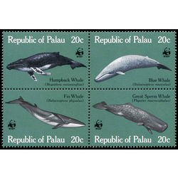 palau stamp 27a whales 1983