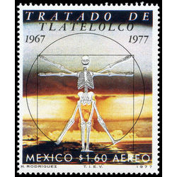 mexico stamp c533 10th anniversary of the agreement of tlatelolco 1977
