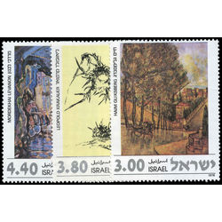 israel stamp 682 4 paintings 1978