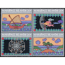 marshall islands stamp 34a inauguration of postal service 1984