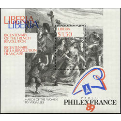 liberia stamp 1130 french revolution bicentenary 1 50 1989