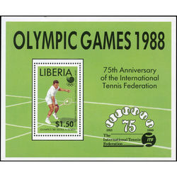 liberia stamp 1096 international tennis federation 75th anniversary 1 50 1988