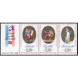 france stamp 2145a bicentenary of the french revolution 1989