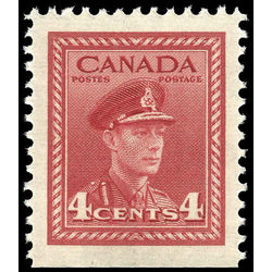 canada stamp 254as king george vi in army uniform 4 1943