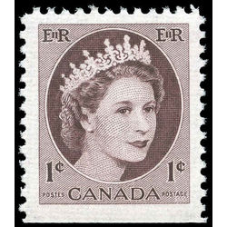 canada stamp 337as queen elizabeth ii 1 1956