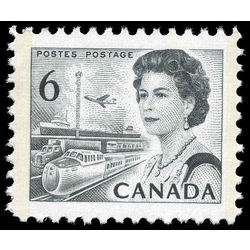 canada stamp 460fpv queen elizabeth ii transportation 6 1972