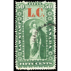 canada revenue stamp ql5 law stamps 50 1864