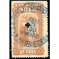 canada revenue stamp ql23 law stamps 90 1871