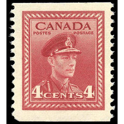 canada stamp 254bs king george vi in army uniform 4 1943