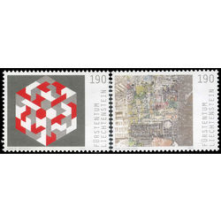 liechtenstein stamp 1625 6 paintings 2014
