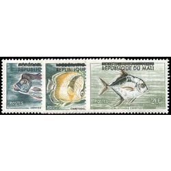 mali stamp 10 2 fishes 1961