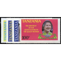 tanzania stamp 267 70 queen mother 85th birthday 1985