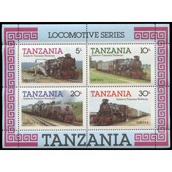 tanzania stamp 274a tanzania railways locomotives 1985