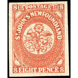 newfoundland stamp 8 1857 first pence issue 8d 1857 m vf 008