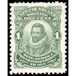 newfoundland stamp 87ix king james i 1 1910